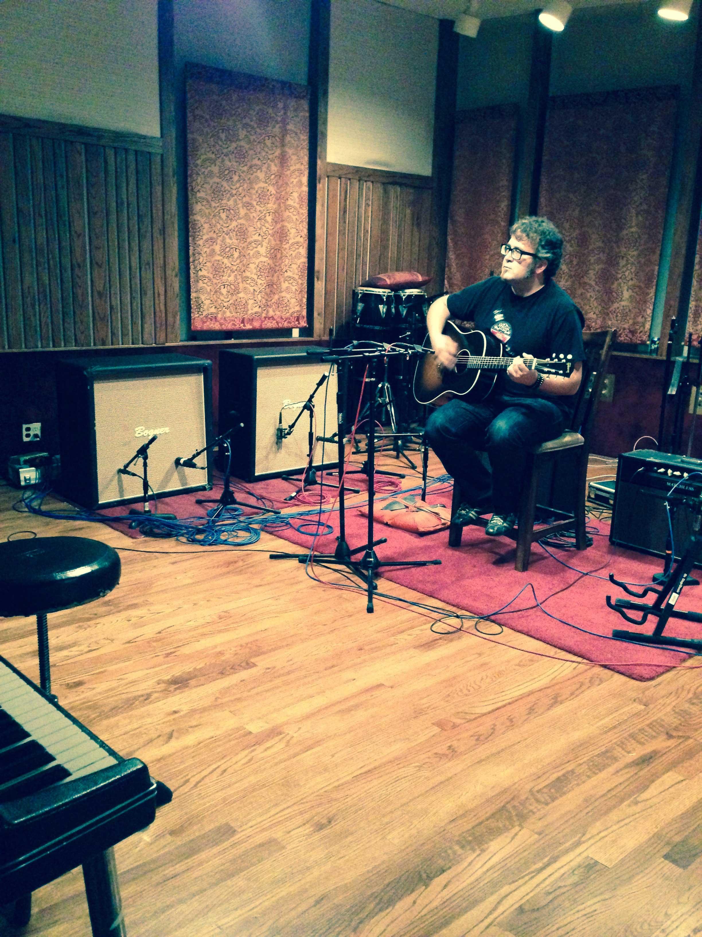 Recording-in-Daves-Room-Studio—LA-2014
